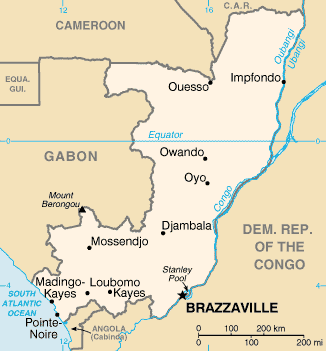 Map of Congo - Brazzaville